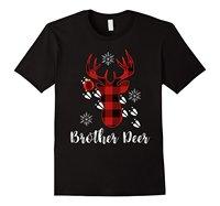 Familie Weihnachten Outfit Brother Deer Plaid Pass Neuen 2017 Heißer Sommer Casual T-Shirt Druck Männer Sommer T-shirt