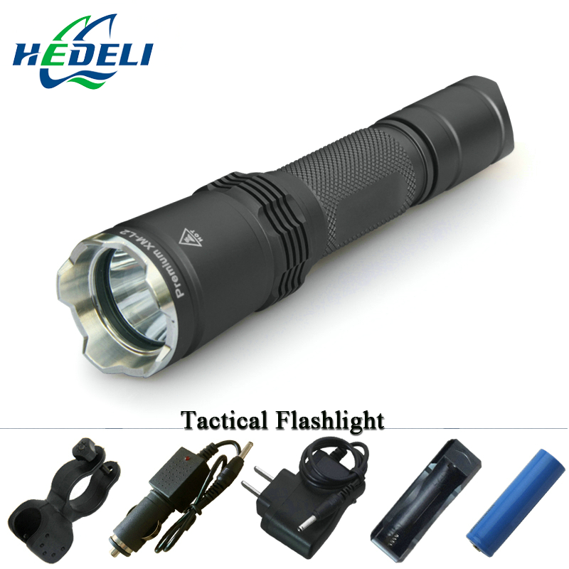 Tactical led flashlight high quality with tactical features light police flashlight waterproof rechargeable battery 18650 CREE gift box cree q5 high power led flashlight waterproof searchlight rechargeable patrol lights 18650 battery charger outdoor light