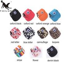 TAILUP Горячая Солнцезащитная шляпа для собак Милая Повседневная хлопковая бейсболка Чихуахуа домашний Йоркширский питомец продукты размера плюс L/XL