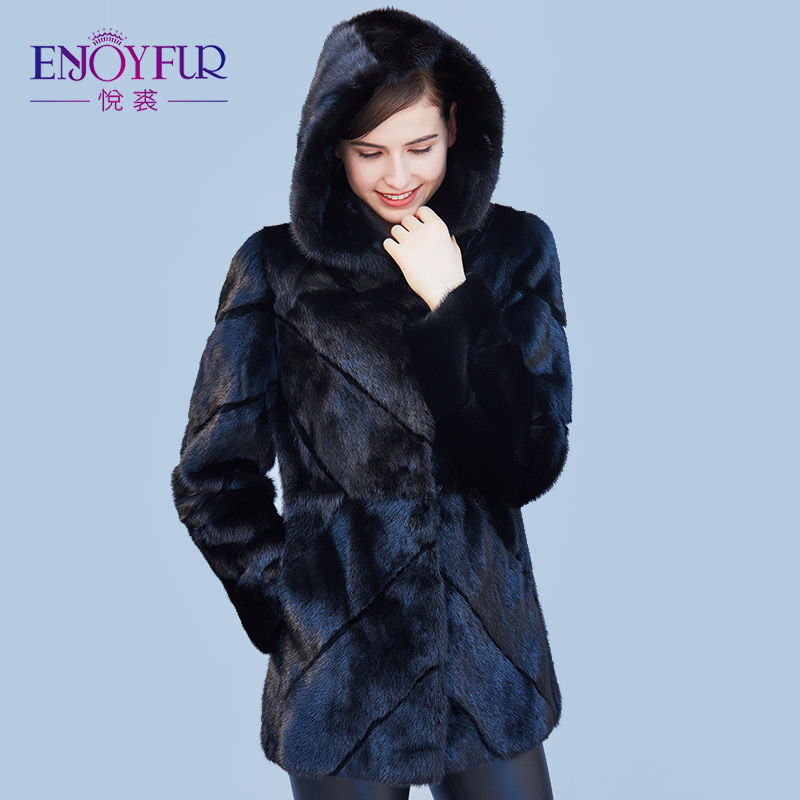 Aliexpress.com : Buy ENJOYFUR Genuine Mink Coats Real Mink Fur ...