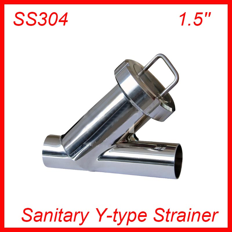 1.5'' Sanitary Stainless Steel SS304 Y type Filter Strainer f Beer/ dairy/ pharmaceutical/beverag /chemical industry sanitary 1 5in od 50 5mm tri clamp y type filter ss304 stainless steel y strainer