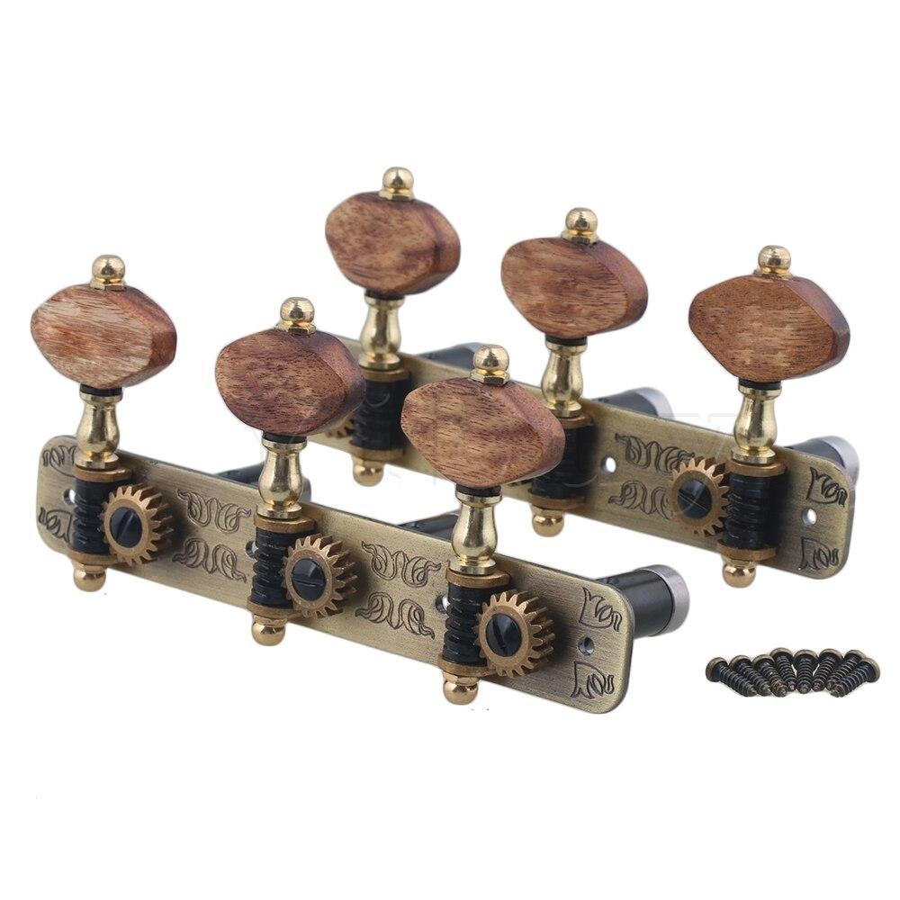 Yibuy 2x trou Pitch 36mm/36mm/25mm 3R3L touches de réglage guitare classique têtes accordeurs