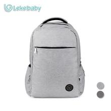 Lekebaby Fashion Mom Bergaya Dad Diaper Backpack Baby Care Double-layer Tas Travel untuk Baby Stroller dengan Mengubah Pad
