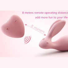 USB Charge Rabbit clitoris Stimulator Wireless Control Invisible Strap On Vibrator Love Egg Dual Strong Power Sex Toys For Woman