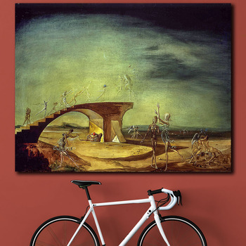 Salvador Dali The Broken Bridge and the Dream Canvas Painting For Living Room Home Decor Oil Painting On Canvas Wall Painting 1