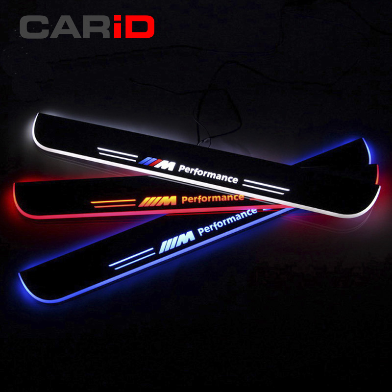 CARiD LED Car Scuff Plate Trim Pedal Door Sill Pathway Moving Welcome Light For BMW Z4 E85 E86 E89 2004-2012 2013 Waterproof