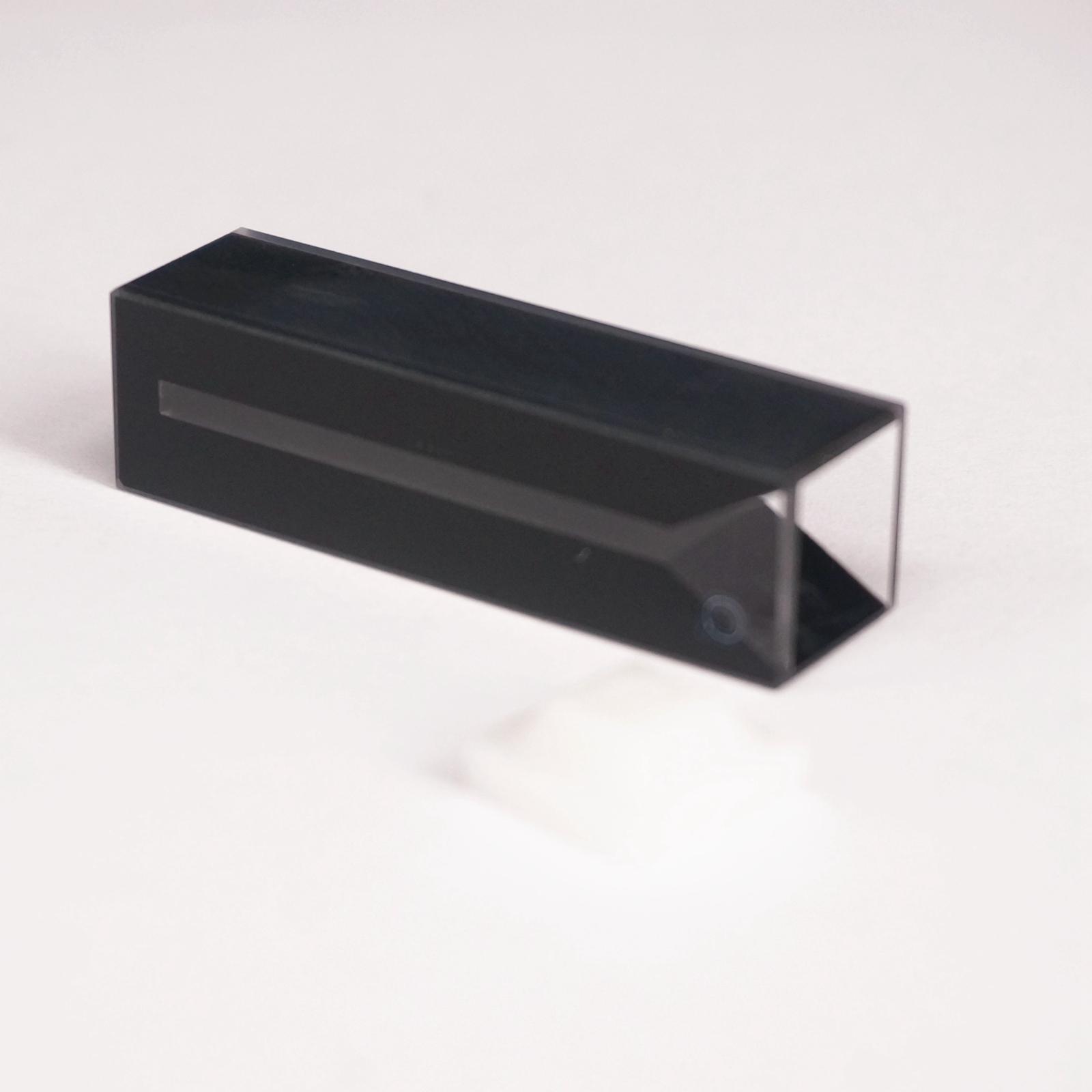 700ul 2mm Inside Width Micro JGS1 Quartz Cell With Black Walls And Lid700ul 2mm Inside Width Micro JGS1 Quartz Cell With Black Walls And Lid