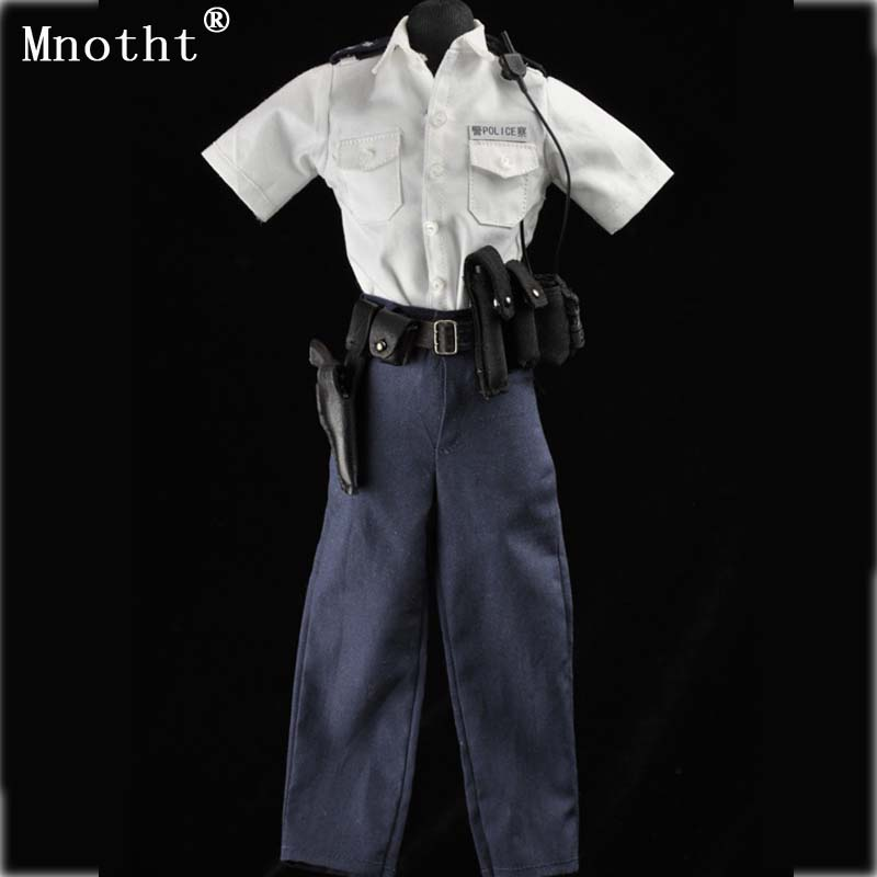 Mnotht 1/6 male soldier Hongkong police men summer white uniform Beret suit model clothes for 12'' toy action figure collection mnotht 1 6 action figure panzer third
