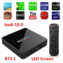TV BOX, MX10 Pro 4GB32GBAndroid 7.1 TVBOX RK3328 Quad Core KD 18.0 4K HDR 2.4G / 5G WIFI USB 3.0 Mediaspeler met Bluetooth4.1