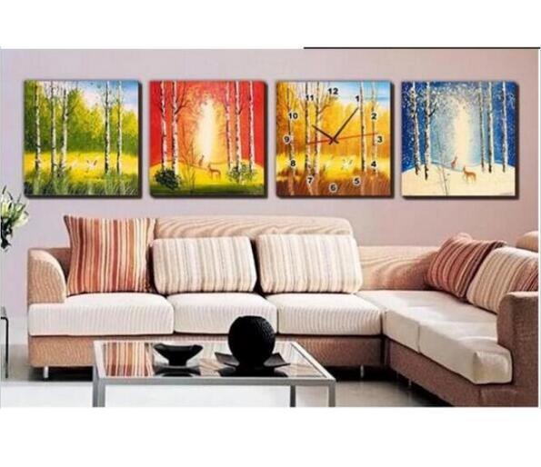 horloge murale peinture achetez des lots petit prix horloge murale peinture en provenance de. Black Bedroom Furniture Sets. Home Design Ideas