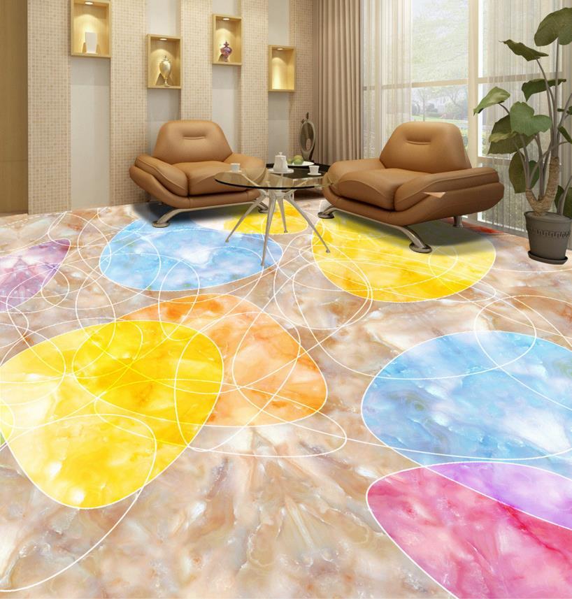 ФОТО 3d wallpaper floor custom wallpaper Abstract pattern 3d floor wallpaper living room self -adhesive wallpaper