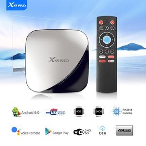 Image 4 - טלוויזיה תיבת אנדרואיד 9 9.0 חכם טלוויזיה תיבת X88 Pro 4GB RAM 32GB/64GB/128GB ROM אנדרואיד טלוויזיה תיבת 4K 60fps RK3318 TVBOX Google נגן Youtube