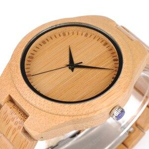 Image 5 - BOBO BIRD WD19 Top Brand Designer Full Bamboo Mens Watches Luxury Japanses Moyia Movement Quartz Wristwatches Wooden Box