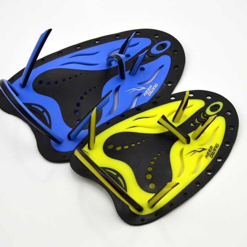 גברים נשים ילדים ללמוד ציוד חיצוני שחייה משוטי Pro אימון מתכוונן סיליקון יד קרומי כפפות Padel סנפירי סנפירים