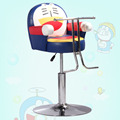 New haircut cartoon car children. Children's hairdressing chair. Cartoon animals children barber chair