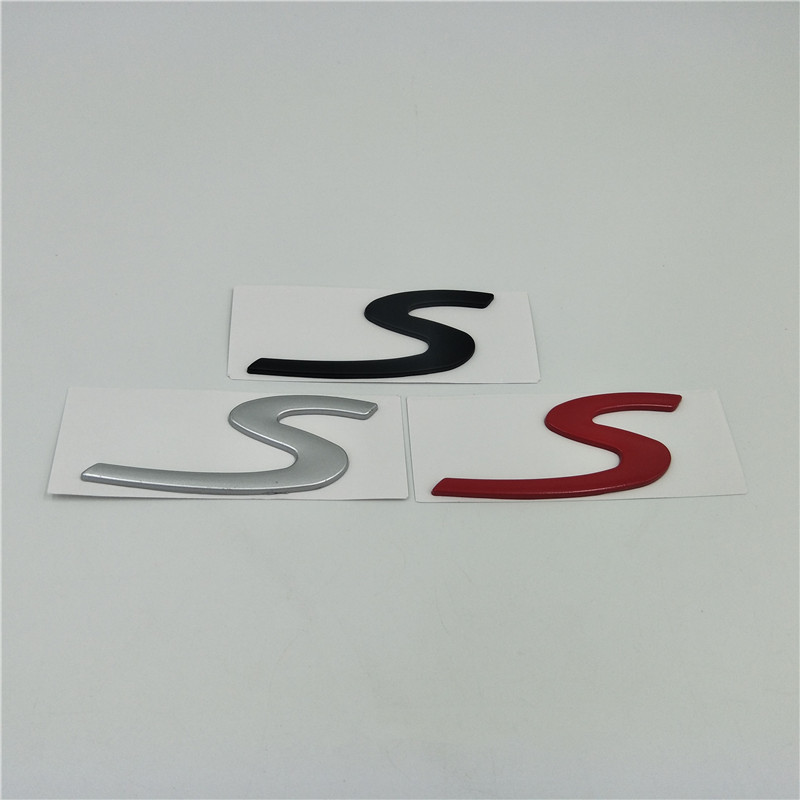 For Porsche Cayenne Panamera Macan Targa Boxster 911 Carrera S Letter Logo Rear Trunk Sticker Tail