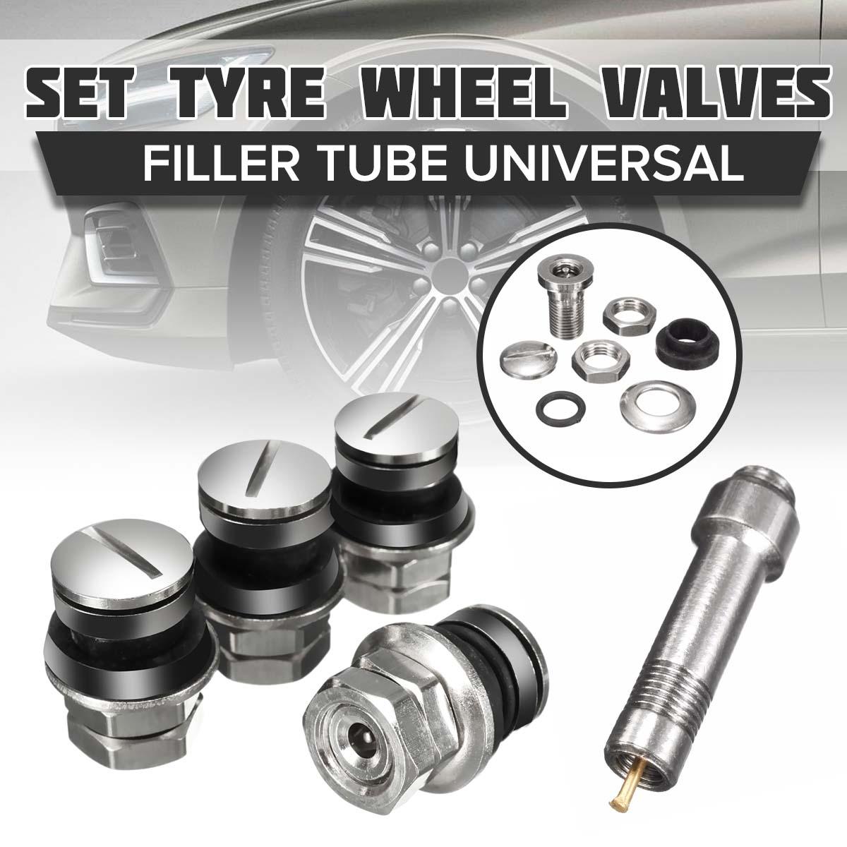 4 Pcs/Set Car Wheel Tire Tyre Valve Stems Tube Cap Durable Chrome Stealth Flush Mount