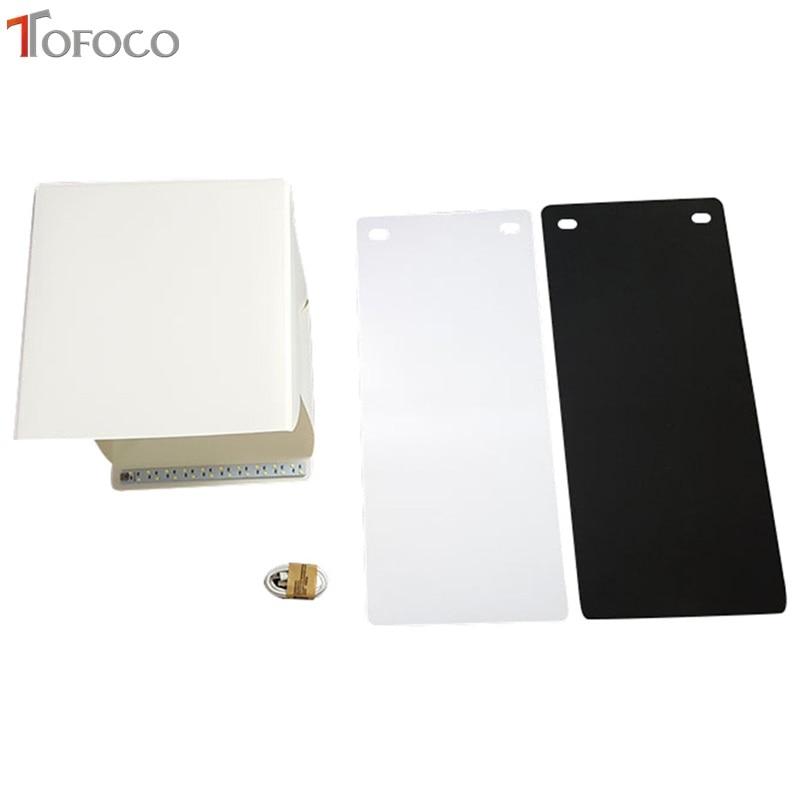 TOFOCO 22.6 cm x 23 cm x 24 cm Mini caja de estudio de fotos - Cámara y foto - foto 5