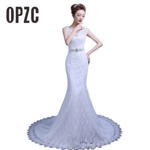 Image 2 - Fashion Elegant Sweetheart Lace Wedding Dress 2020 for Wedding Bride Mermaid Dresses Vestidos De Baratos Wedding Gowns