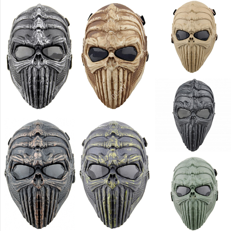 DC07 Spine Tingler Military Army CS Wargame Halloween Airsoft Paintball Tactical Skull Full Face Protective Mask
