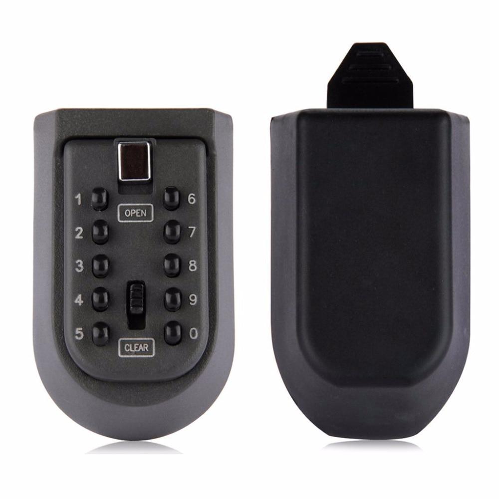 Wall-Mounted Key Storage Key Safe Box With 10-digit Combination Lock