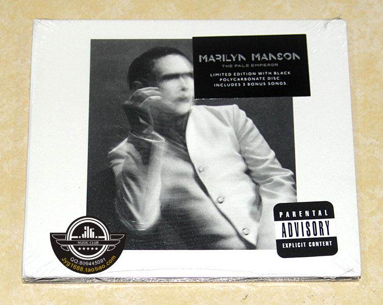 Free shipping; Marilyn Manson THE PALE EMPEROR CD Deluxe Edition; Seal james robinson jsa the golden age deluxe edition