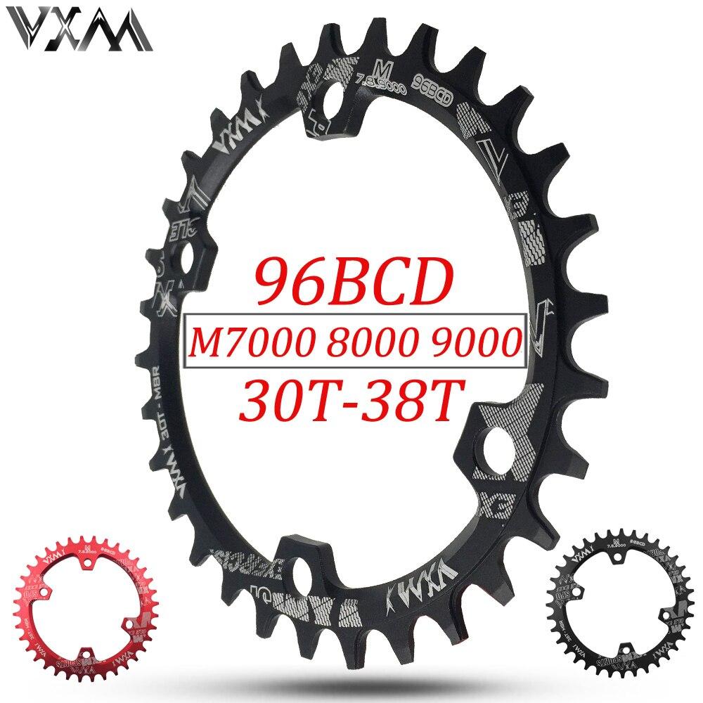 VXM 30 t 32 t 34 t 36 t 38 t 96BCD Ovale En Alliage D'aluminium Plateau Rond Roue Vélo De Route plateau pour M7000 M8000 M9000