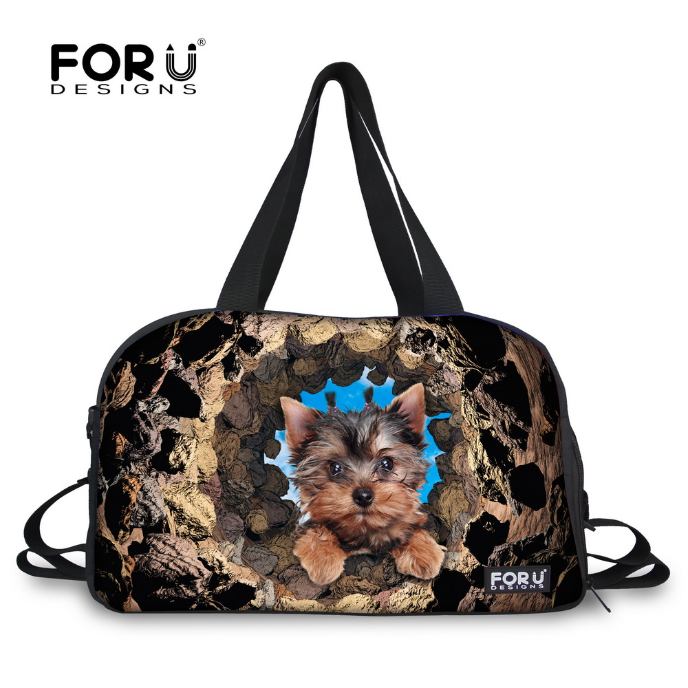 Large Capacity Cute Dog Printed Men Luggage Travel Bag Male Tote Travelling Duffle Bags Casual Weekend Bag Fashion Overnight Bag tegaote men travel bag zipper luggage travel duffle bag latest style large capacity male female portable waterproof travel tote