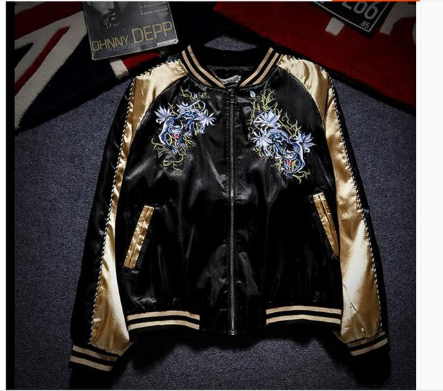 Japanese style Yokosuka jackets Embroidered uniform jacket men and women lovers jackets