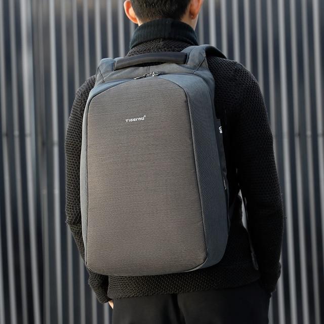 Tigernu Men Fashion 15.6 inch Anti theft Waterproof Business Laptop Backpacks Casual Male School Backpacks GrilsSchoolbag 5