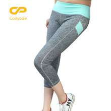 Codysale Casual Women Pants 2017 Women Skinny Pants Capris Elastic Slim Leggings Hip Up Workout Exercise 3/4 Pants Bottoms Women