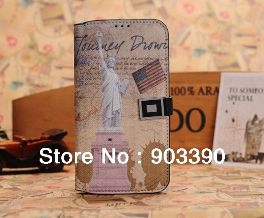Retro British Style Wallet Leather Case For Samsung Galaxy S4 SIV i9500 30pcs/lot free shipping by DHL
