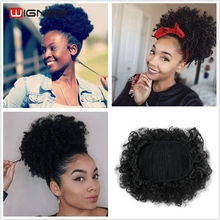 Wignee High Temperature Synthetic Fiber Curly Chignon Bun Hairpiece Elastic Fake Classic Hair Extensions For Black/White Women