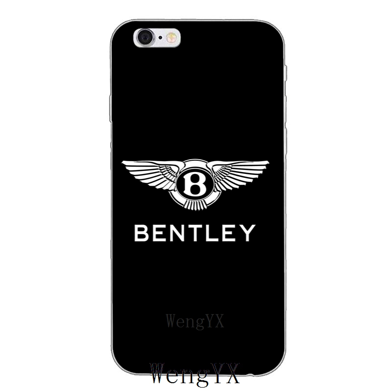 Luxury Sports Car Bentley Logo Slim Silicone Soft Phone Case For
