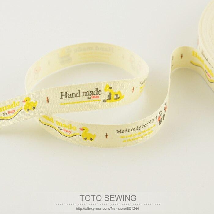 1.5 см ширина ZAKKA хлопок ленты Mini. заказ составляет $5 (смешанный заказ) игрушки label Тото Швейные аксессуары для швейных ленты Бесплатная достав...