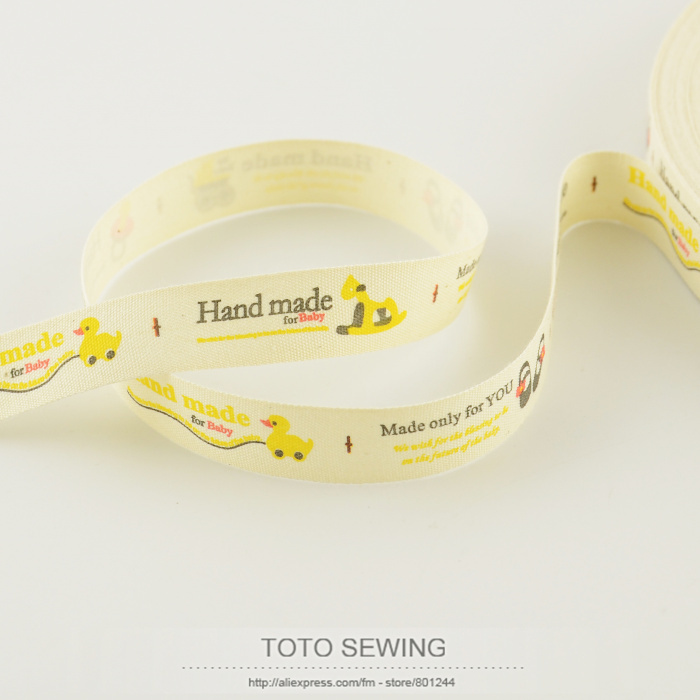 1.5CM width Zakka cotton ribbons mini.order is $5 (mix order) duck toys label TOTO sewing accessory sewing tapes FREE SHIPPING