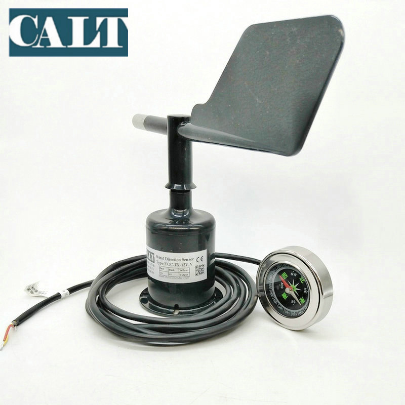 CALT Digital / Analog Wind Direction Sensor Transmitter 5Volts Wind Vane Anemometer In Weather Station enhanced windsock wind vane double frame skeleton
