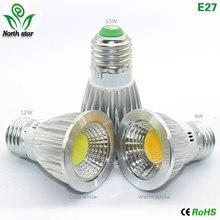 GU10 Светодиодная лампа E27 Светодиодный светильник E14 лампада MR16 COB светильник 9 Вт 12 Вт 15 Вт Светодиодный точечный светильник Теплый Холодный белый MR16 12 В Светодиодная лампа гу 5,3 220 В