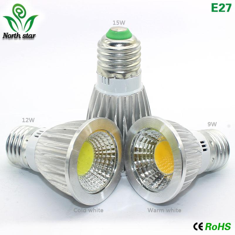 GU10 led bulb E27 led light E14 Lampada MR16 COB light 9w 12w 15w Led Spotlight Warm Cold White MR16 12V led Lamp GU 5.3 220V dimmable gu10 mr16 cob led spot light lamp dc12v ac12v 220v 110v 6w cob led spotlight bulb lamp warm cold white