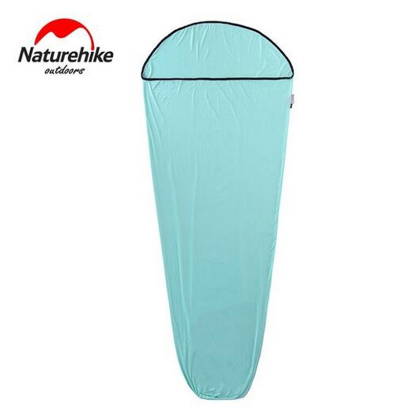 Naturehike 400G Ultralight Mummy Waterproof Sleeping Bag Liner For Hiking 210*80CM Outdoor Camping Accessories naturehike mummy sleeping bag ultralight camping outdoor 3 season cotton winter adult sleeping bags for tourists 1750g 210 80cm