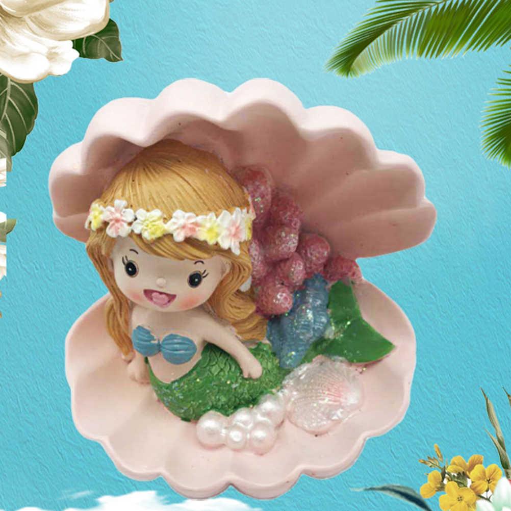 1 шт. торта Топпер украшения смолы Гавайи очаровательны Русалка Торт Ремесло рабочего стола орнамент предметы интерьера подарок для детей день рождения