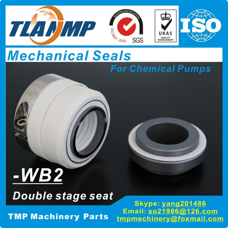 WB2 50 WB2 50 PTFE Teflon bellows mechanical seals For Corrosion resistant Chemical Pumps with Double