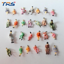 Toys Hobbies - Building  - 50PCS HO Scale 1/87 All Seated Model Railway People Scale Model Sitting Figures Scenery Model Making