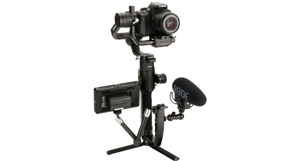 Gimbal Accessories L Bracket Stand Handle Grip with Hot Shoe 1/4'' Screw for Zhiyun Crane 2/Plus/V2,Ronin S Stabilizer,Magic Arm 6