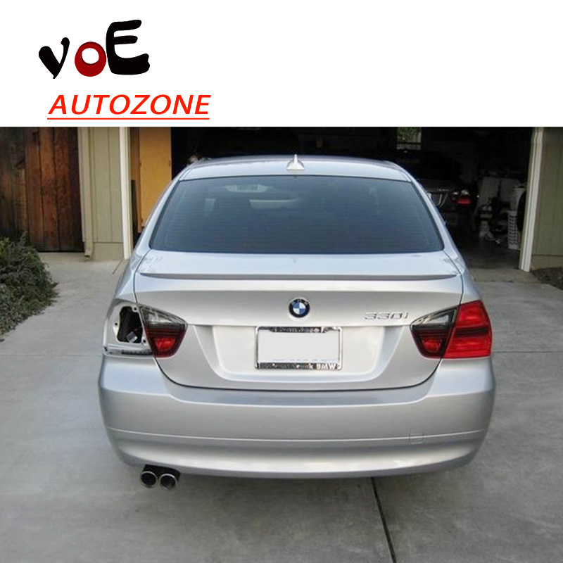 2005 2006 2007 2008 2009 2010 2011 E90 ABS Plastic M3 Style Unpainted Primer Rear Wing Lip Spoiler for BMW E90 3 Series