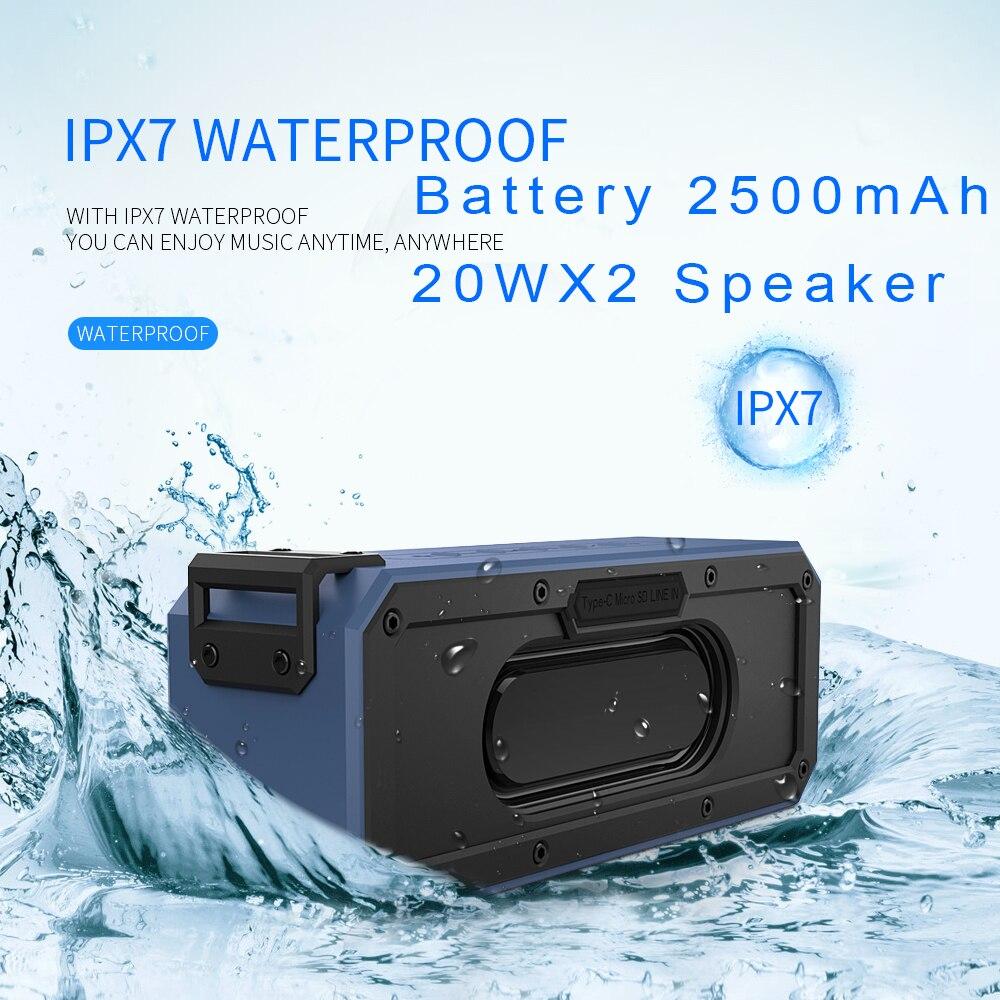 40W Wireless Bluetooth Speaker Waterproof Portable Super Bass Subwoofer Soundbar Support Type-C USB TF Card For Computer Speaker