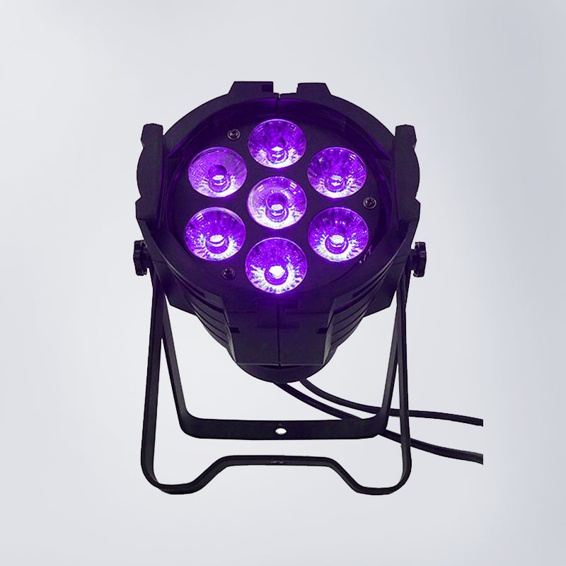 Aluminum alloy 7x18W RGBWA+UV led par lights 6in1 par can lights dmx 512 for stage club dj lighting top selling led par 7x18w rgbwa uv 6in1 stage profession dmx 512 effect lighting power in out for clubs theaters nightclub