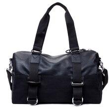 New Arrival Vintage Pu Leather Black Handbag Men Large-Capacity Luggage Shoulder Bags Men's Casual Travel Bag
