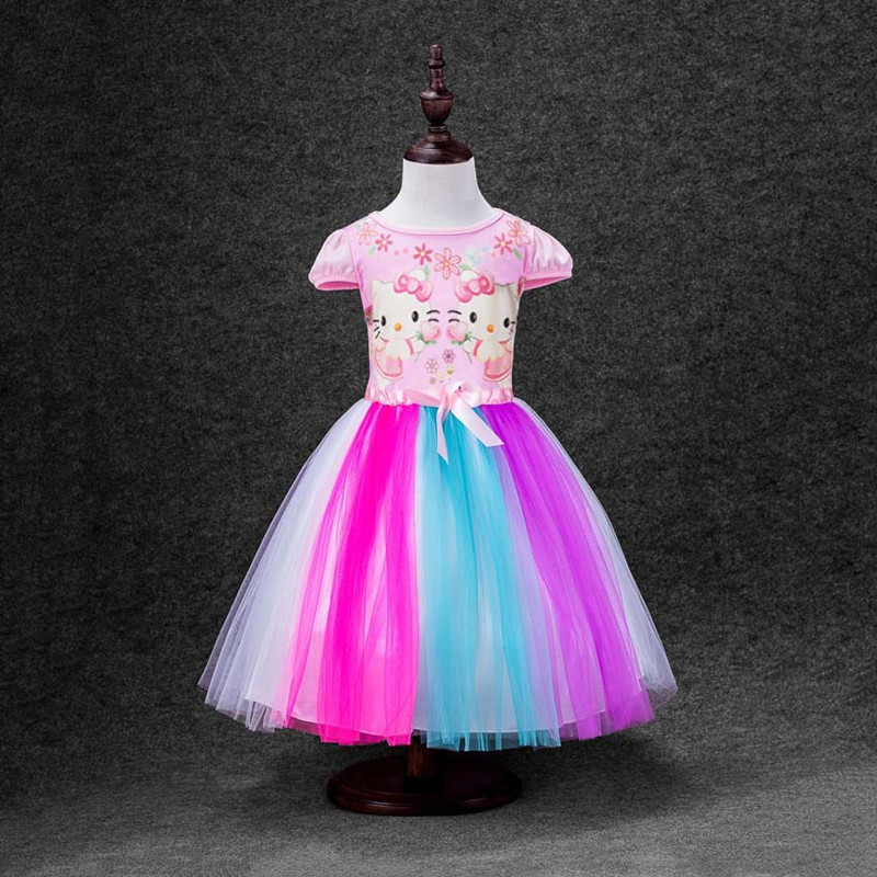 2018 Sommerkleid Neue Regenbogen Moana Mädchen Kleid Bunte Hallo - Kinderkleidung - Foto 4