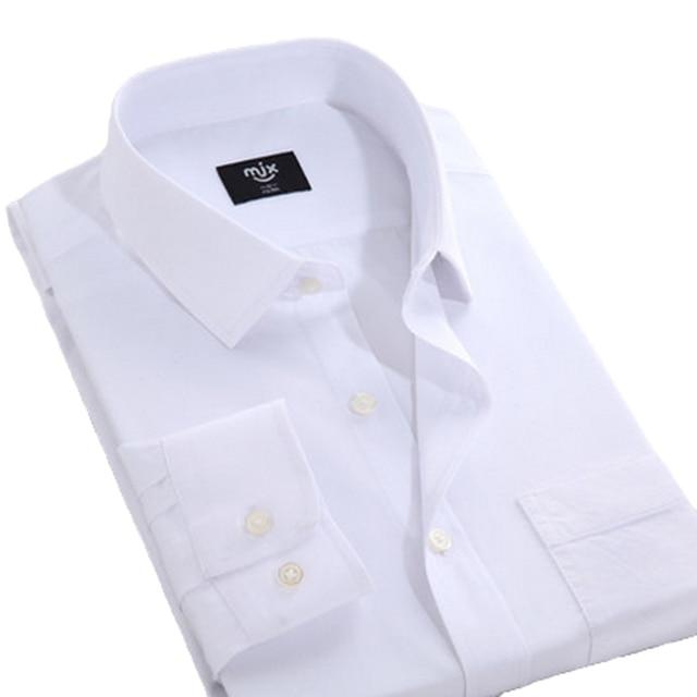2016 New Camisa Slim Fit Men Formal Dress Shirt Long Sleeve Shirt Men Brand Clothing
